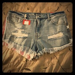 Pants - Mission cut off American flag Jean shorts